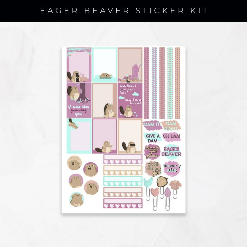 Eager Beaver Stickers