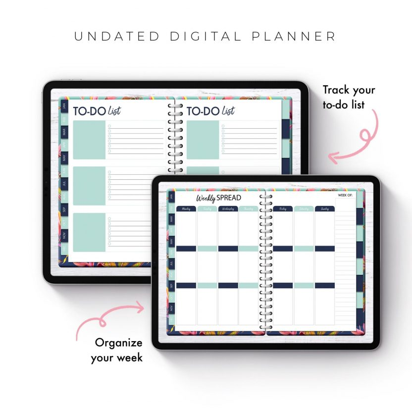 Soul Gal Bright Floral Undated Planner