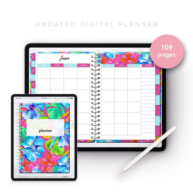 Soul Gal Tropical Psychedelic Undated Planner