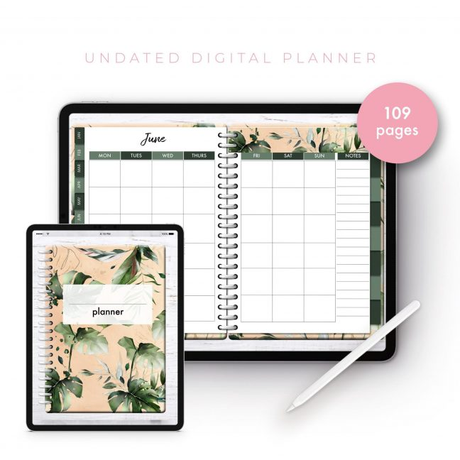 Soul Gal Gold Tropicana Undated Planner