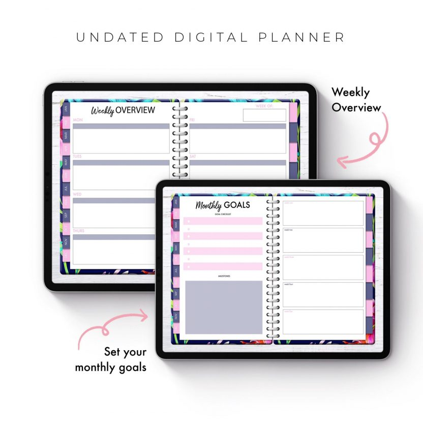Soul Gal Psychedelic Floral Undated Planner