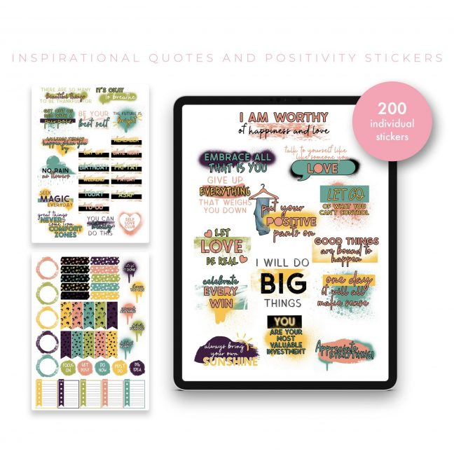 Inspirational Quotes and Productivity Set B Stickers