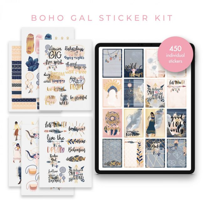 Boho Gal Stickers
