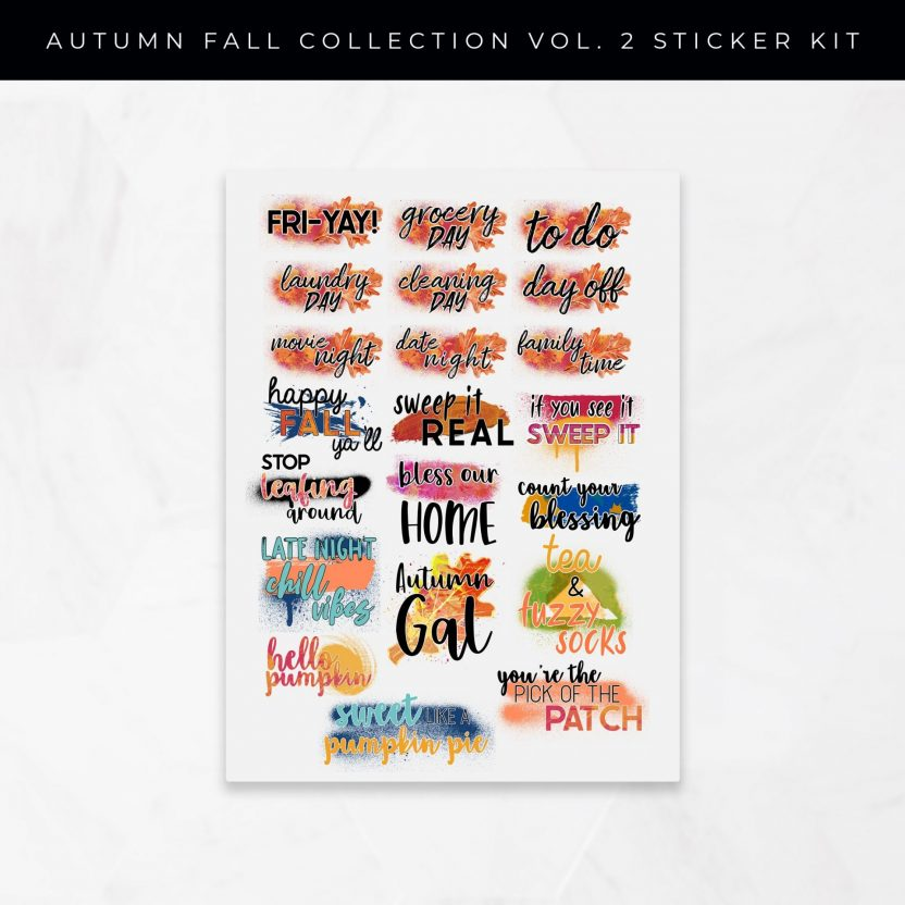 Autumn Collection Vol 2 Stickers