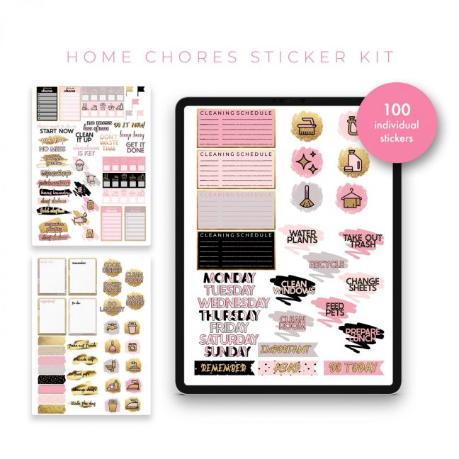 Home Chores Stickers