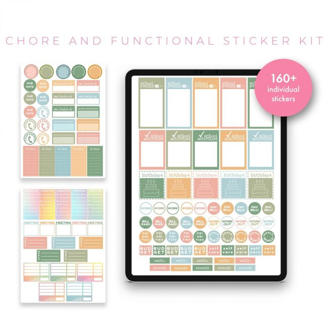 Chore and Functional Stickers – Pastel