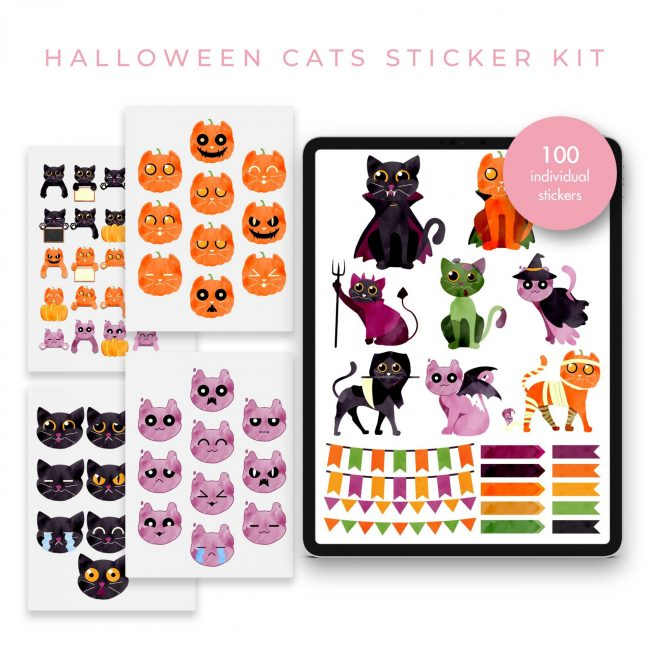 Halloween Cats Stickers