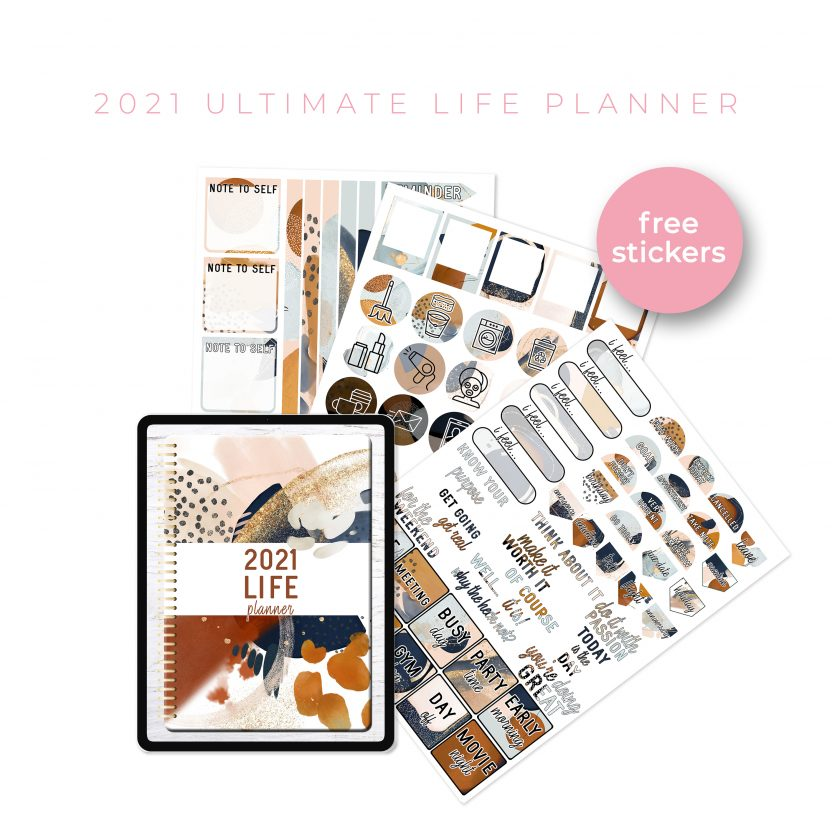2021 Ultimate Life Planner in Gold Rustic – Portrait