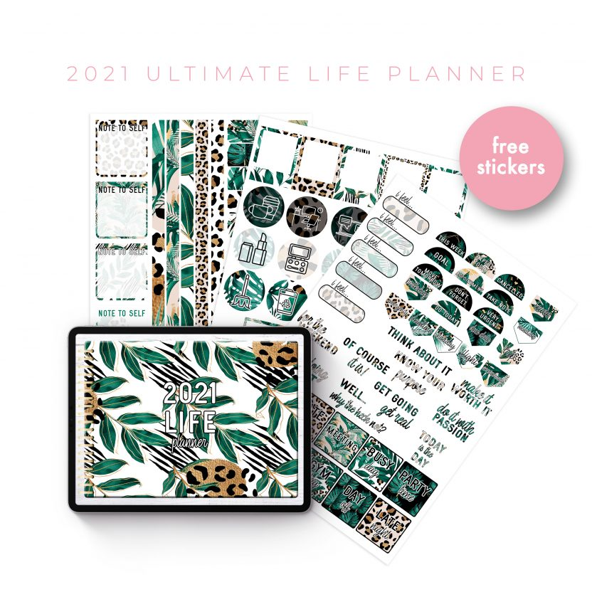 2021 Ultimate Life Planner in Gold Tropical – Landscape