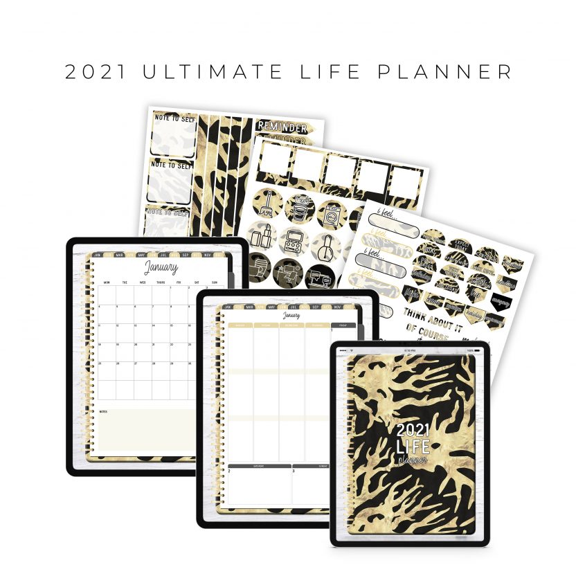 2021 Ultimate Life Planner in Black Gold – Portrait