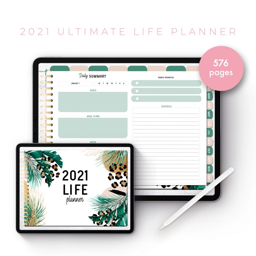 2021 Ultimate Life Planner in Gold Leopard – Landscape