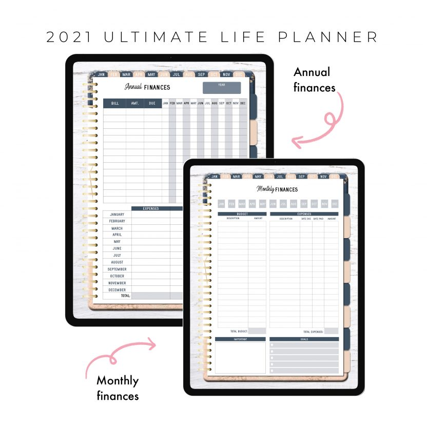 2021 Ultimate Life Planner in Blush Gold – Portrait