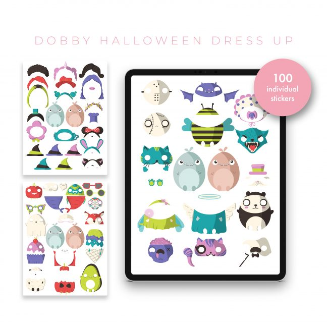 Dobby Halloween Dress Up Sticker Kit