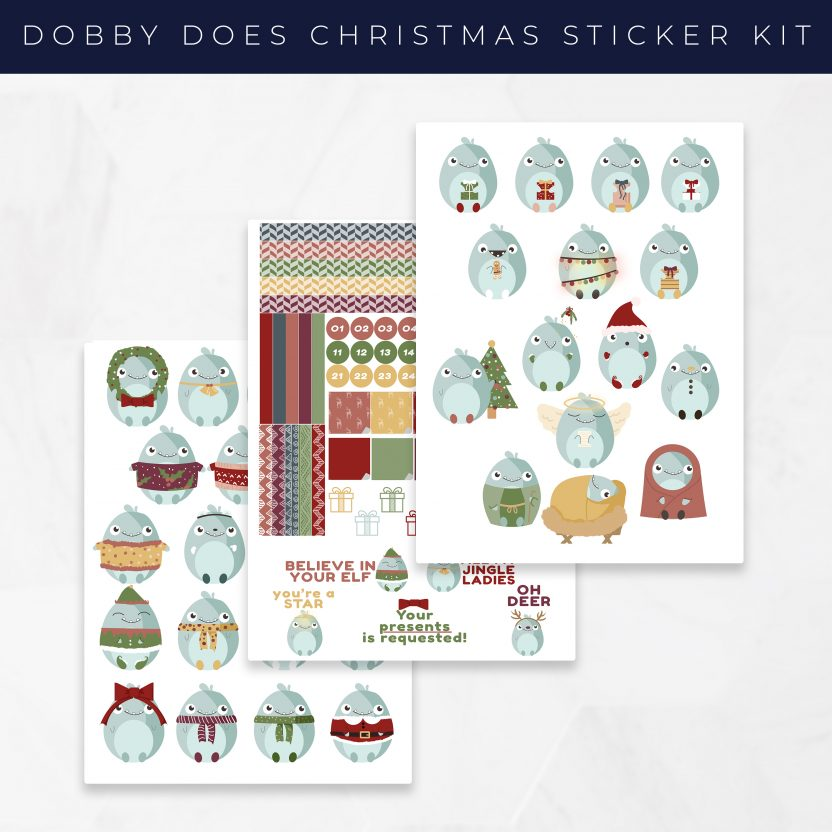 Dobby Does Christmas Stickers