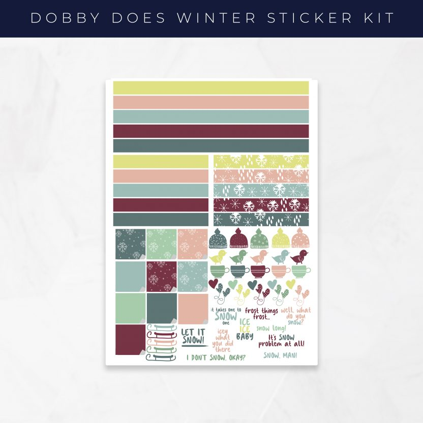 Dobby Does Winter Stickers