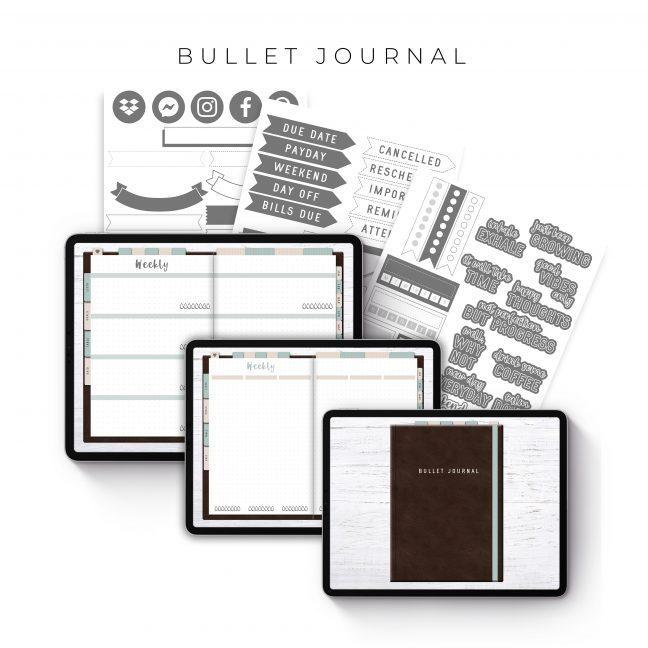 Bullet Journal in Brown Leather