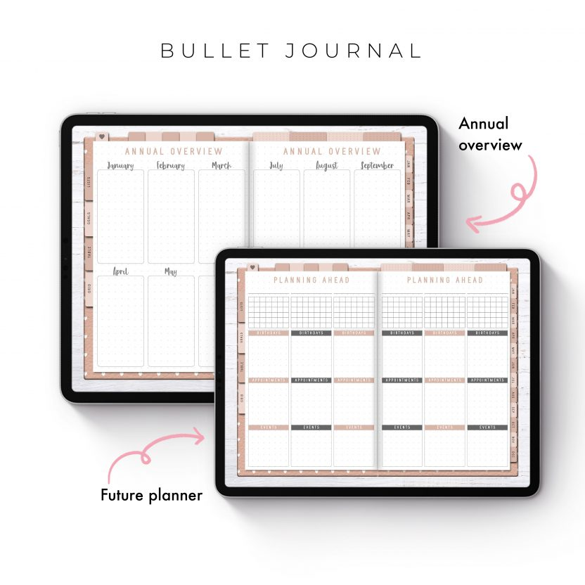 Bullet Journal in Pink Leather