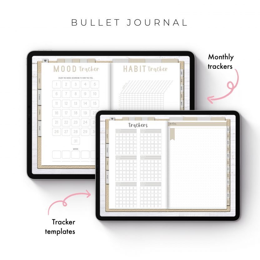 Bullet Journal in Cream Leather