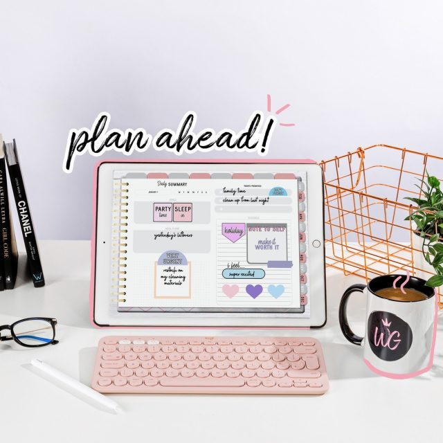 Perks of planning ahead:  1. You stay organized. 2. You're on top of things. 3. You remove procrastination from your system.  Are you a planner? How do you plan your day ahead? 👇🏼 __  #worthygal #worthygaldigital #worthygalplanner #worthygalplanners #plannersareeverything #digitalplanner #digitalplanners #goodnotes #goodnotesapp #goodnotes5 #goodnotesplanner #goodnotesplannerstickers