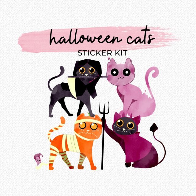 Cat's out of the bag! Our Halloween Cats Sticker Kit will surely amp up your Halloween plans this season. 😻 __  #worthygal #worthygalstickers #halloweenstickers #digitalsticker #digitalstickers #goodnotes #goodnotesapp #goodnotes5 #halloweencats #halloweencatstickers #catstickers #catlovers #catloversofinstagram